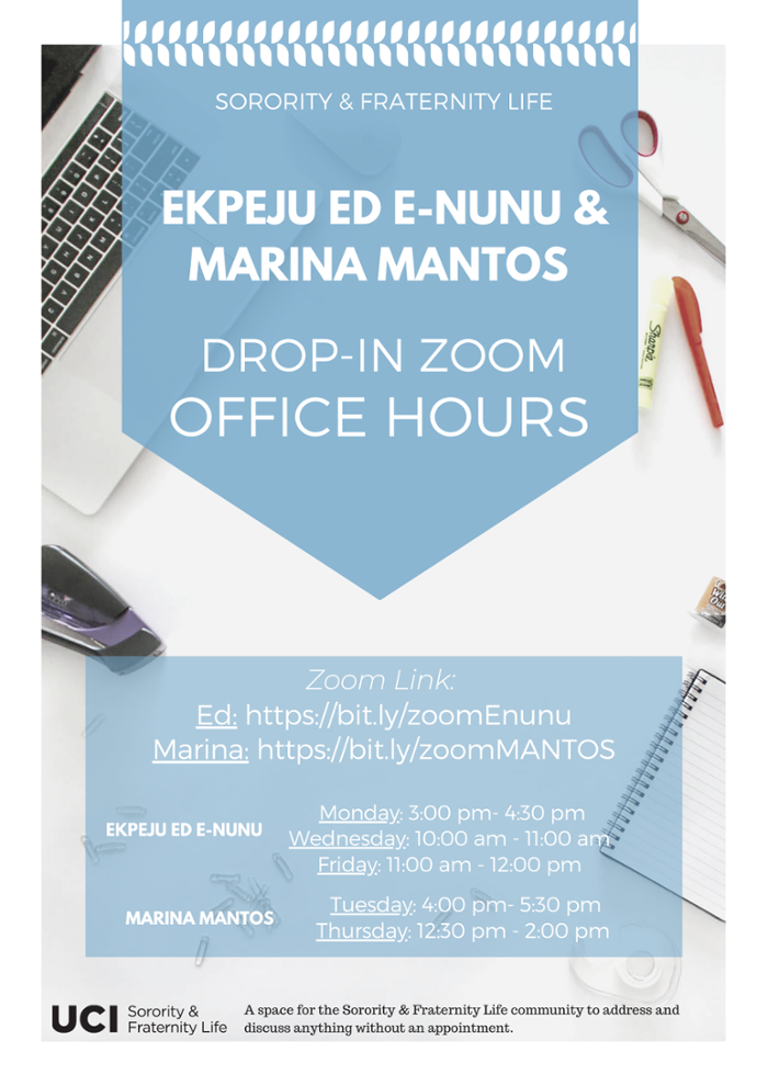 Spring 2020 Office Hours